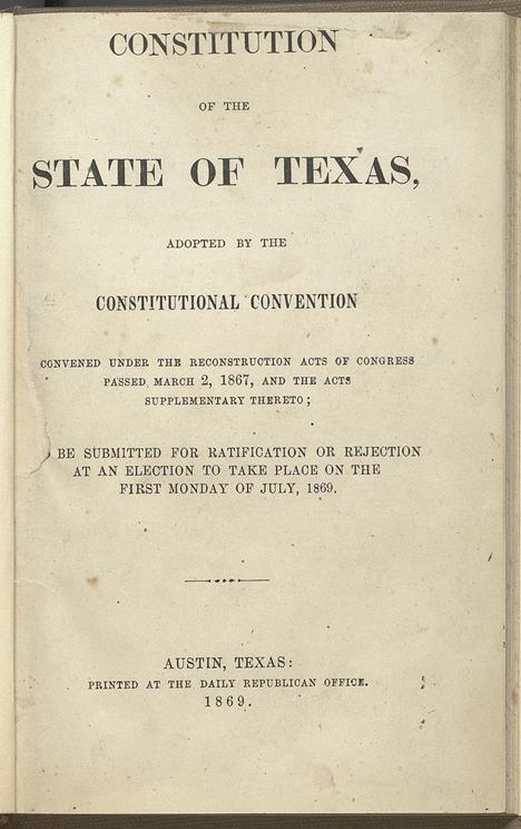 Texas Constitution of 1969