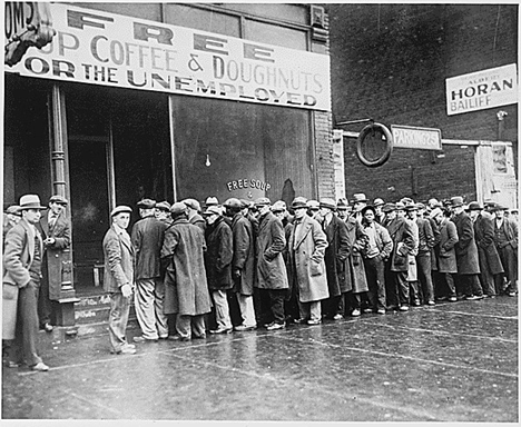 Al Capone's Soup kitchen in Chicago during the Great Depression (1931)
