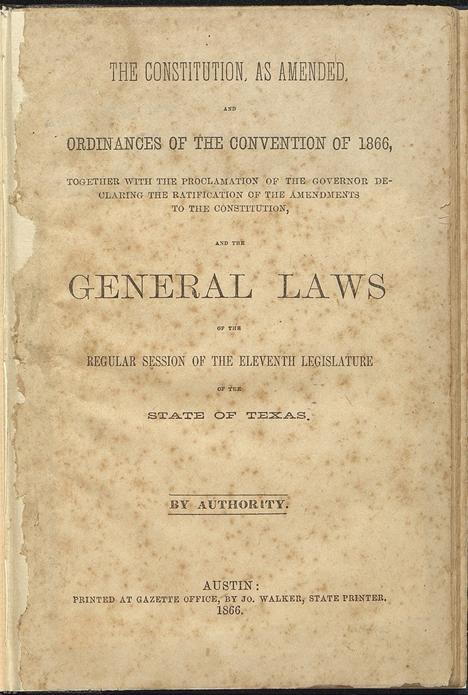 Texas Constitution of 1866