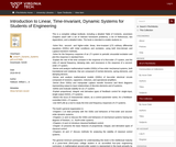 Introduction to Linear, Time-Invariant, Dynamic Systems for Students of Engineering