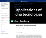 Applications of DNA technologies