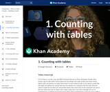 1. Counting with tables