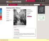 American Urban History I, Spring 2010