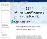 American progress in the Pacific in 1944