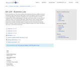 BA 226 - Business Law