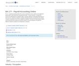 BA 177 - Payroll Accounting Online