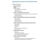 Sustainability, Innovation, and Entrepreneurship
