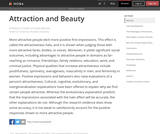 Attraction and Beauty