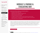 Module 5: Finding & Evaluating OER