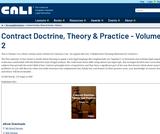 Contract Doctrine, Theory & Practice - Volume 2