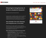 Choosing & Using Sources: A Guide to Academic Research