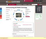 Communicating with Mobile Technology, Spring 2011