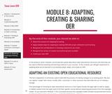 Module 8: Adapting, Creating & Sharing OER
