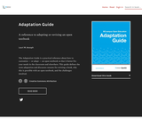 Adaptation Guide: A reference to adapting or revising an open textbook
