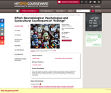 Affect: Biological, Psychological, and Social Aspects of Feelings, Spring 2013