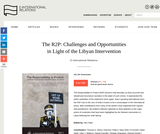 The R2P: Challenges and Opportunities in Light of the Libyan Intervention