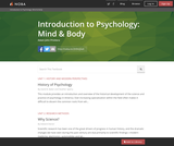 Introduction to Psychology: Mind & Body