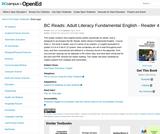 BC Reads: Adult Literacy Fundamental English - Reader 4