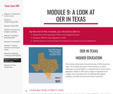 Module 9: A Look at OER in Texas