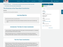 The Evolution of the Texas State Constitution